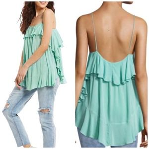NWT Intimately Free People Cascades Ruffle Cami